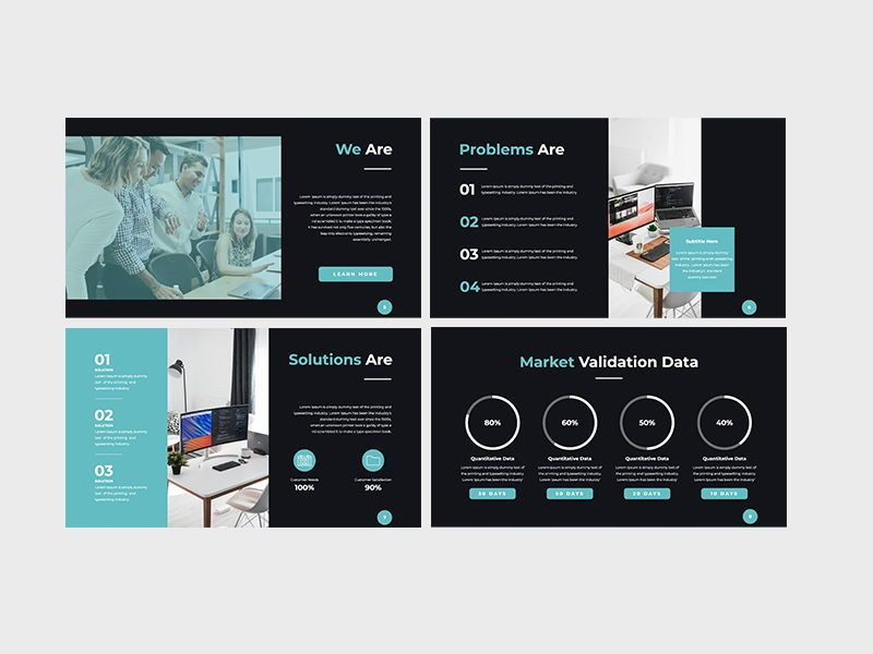 Darko Pitch Deck Template KEY, Slide 3, 08233, Presentation Templates — PoweredTemplate.com