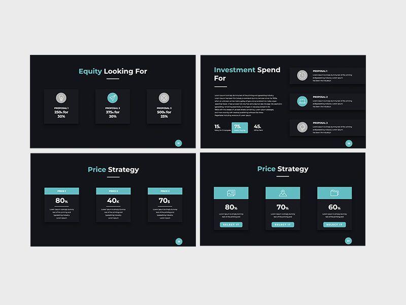 Darko Pitch Deck Template KEY, Slide 7, 08233, Presentation Templates — PoweredTemplate.com