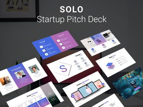 Presentation Templates: SOLO Startup Pitch Deck Template PPTX #08240