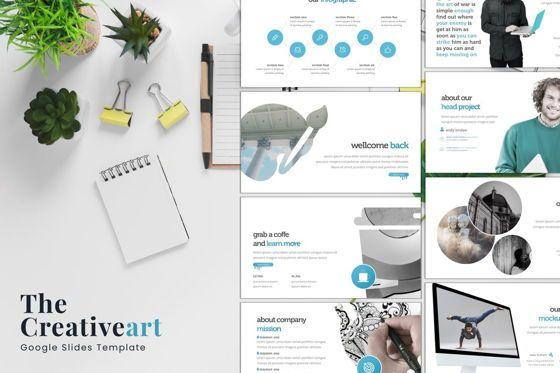 Presentation Templates: The Creativeart - Google Slides Template #08243