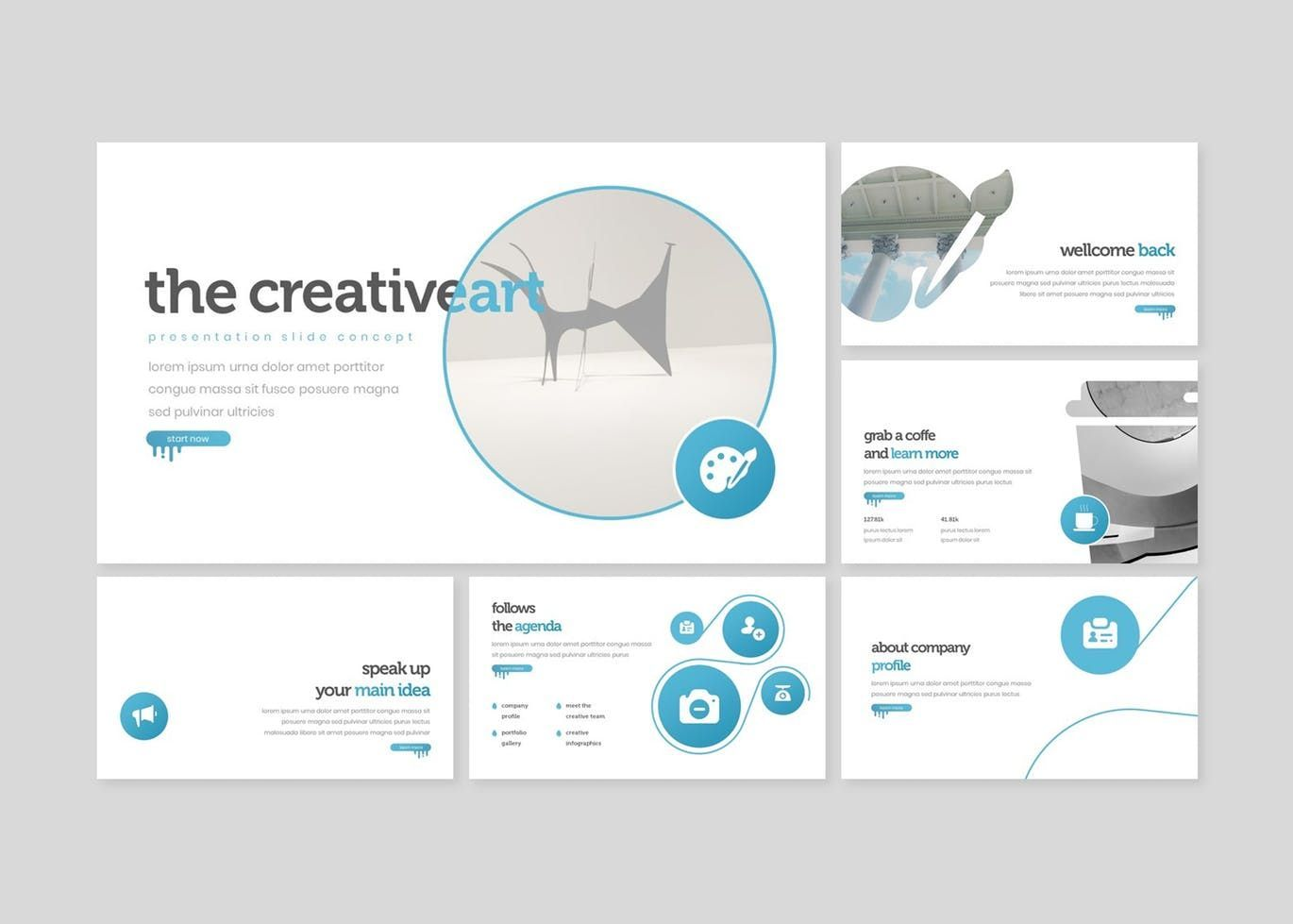 The Creativeart - Google Slides Template, Slide 2, 08243, Presentation Templates — PoweredTemplate.com
