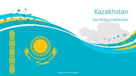 Presentation Templates: Kazakhstan Festive State Flag #08244