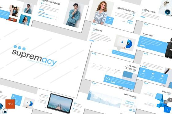 Presentation Templates: Supremacy - PowerPoint Template #08249