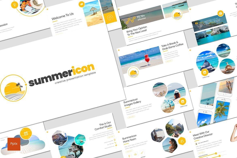Summericon - PowerPoint Template, 08250, Presentation Templates — PoweredTemplate.com
