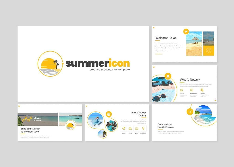 Summericon - PowerPoint Template, Slide 2, 08250, Presentation Templates — PoweredTemplate.com
