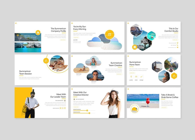 Summericon - PowerPoint Template, Slide 3, 08250, Presentation Templates — PoweredTemplate.com