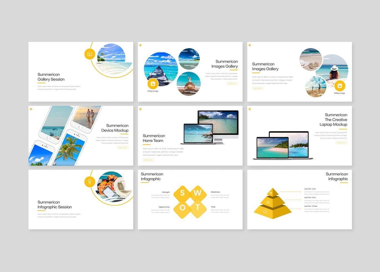 Summericon - PowerPoint Template, Slide 4, 08250, Presentation Templates — PoweredTemplate.com