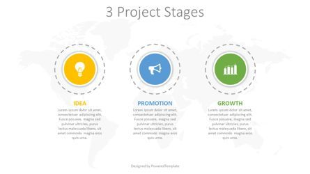 Infographics: 3 Project Stages Diagram #08251