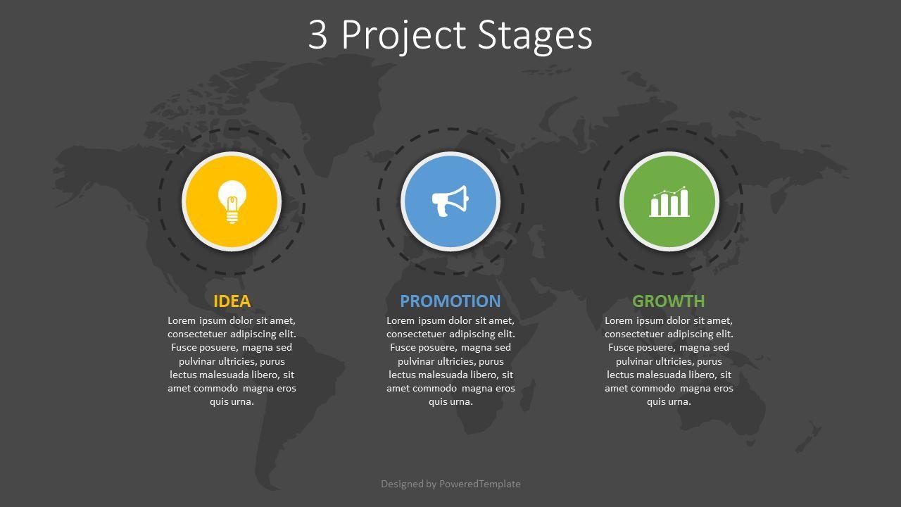 3 Project Stages Diagram, Slide 2, 08251, Infographics — PoweredTemplate.com