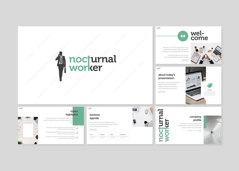 Nocturnal Worker - Keynote Template, Slide 2, 08254, Presentation Templates — PoweredTemplate.com