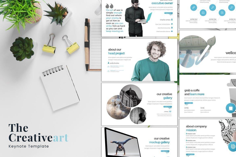 The Creativeart - Keynote Template, 08255, Presentation Templates — PoweredTemplate.com