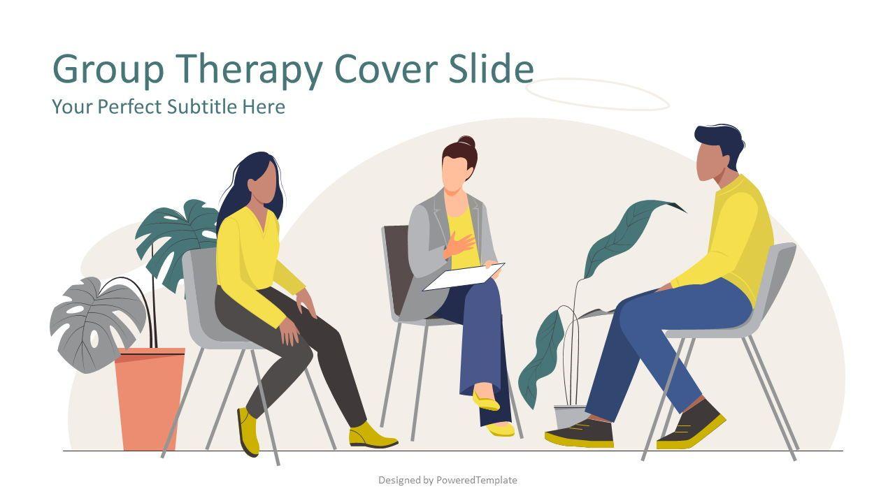 Group Therapy Cover Slide, 08257, Presentation Templates — PoweredTemplate.com