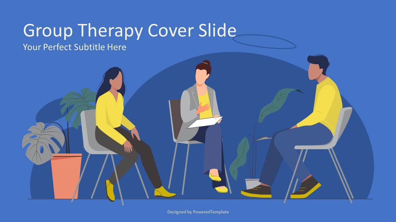 Group Therapy Cover Slide, Slide 2, 08257, Presentation Templates — PoweredTemplate.com