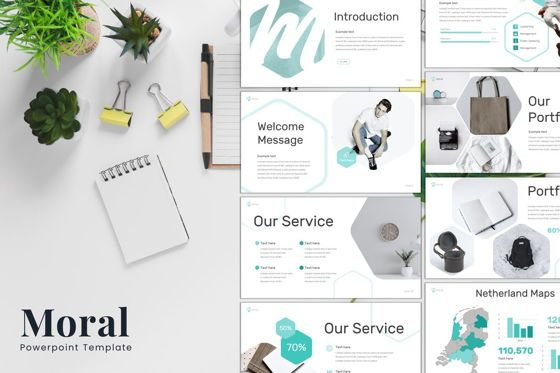 Presentation Templates: Moral - PowerPoint Template #08258