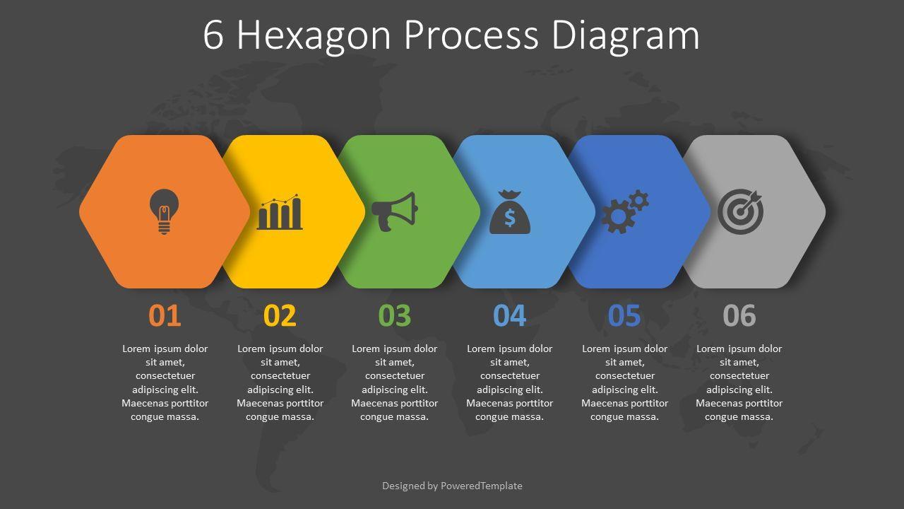 6 Hexagon Process Diagram, Slide 2, 08263, Infographics — PoweredTemplate.com