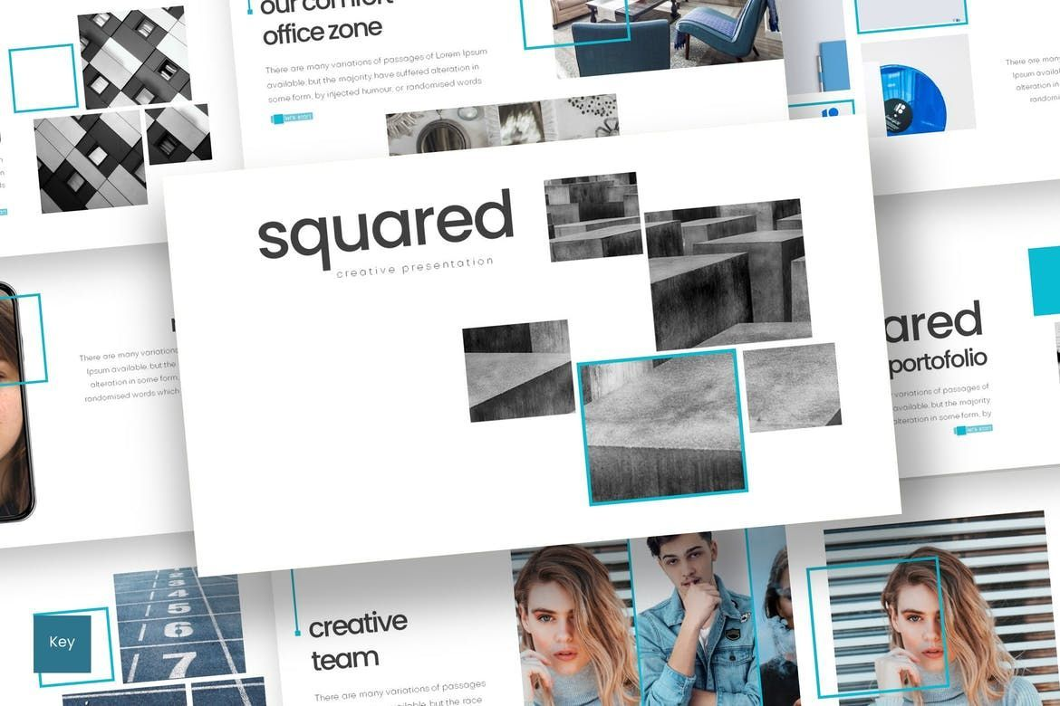 Squared - Keynote Template, 08264, Presentation Templates — PoweredTemplate.com