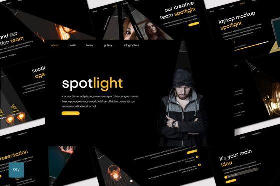 Presentation Templates: Spotlight - Keynote Template #08266