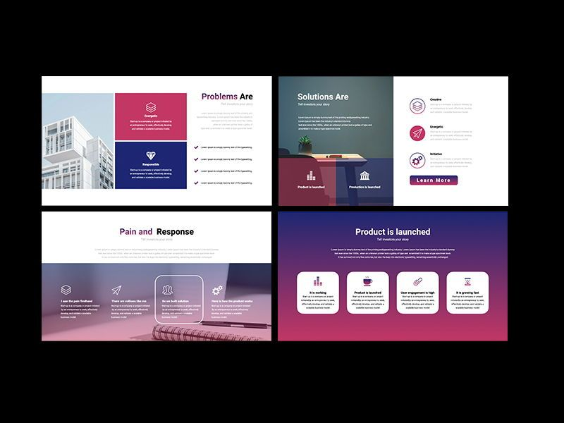 UNICORN Startup Pitch Deck Template KEYNOTE, Slide 3, 08268, Presentation Templates — PoweredTemplate.com