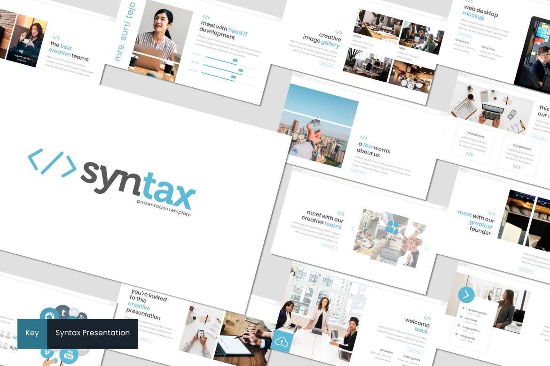 Syntax - Keynote Template, 08270, Presentation Templates — PoweredTemplate.com