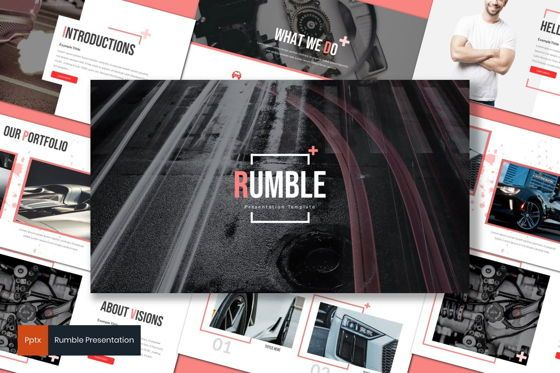 Presentation Templates: Rumble - PowerPoint Template #08271