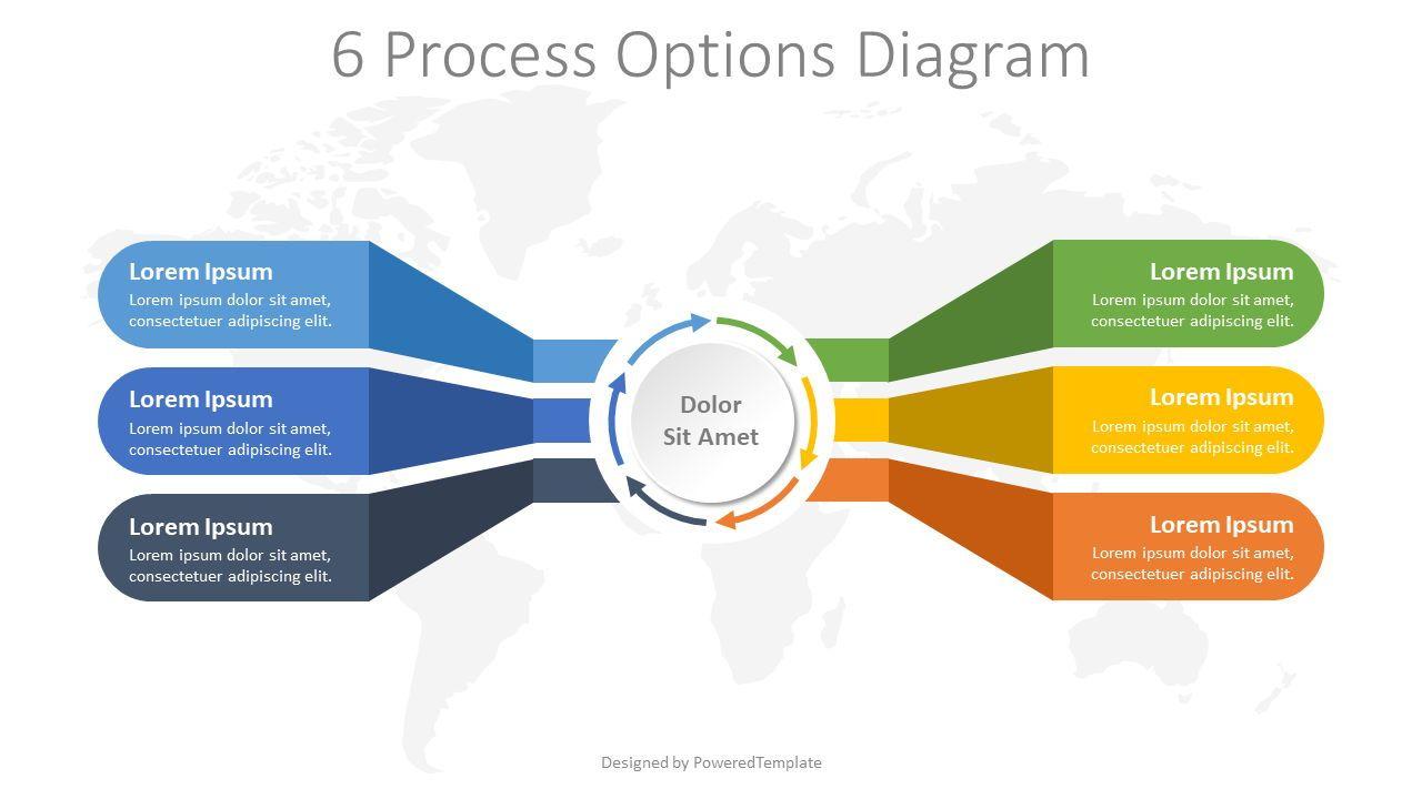 6 Process Options Diagram, 08272, Infographics — PoweredTemplate.com