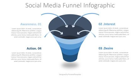 Business Models: Social Media Funnel Diagram #08273