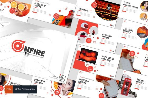 Presentation Templates: Onfire - PowerPoint Template #08274