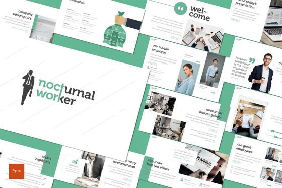 Presentation Templates: Nocturnal Worker - PowerPoint Template #08275