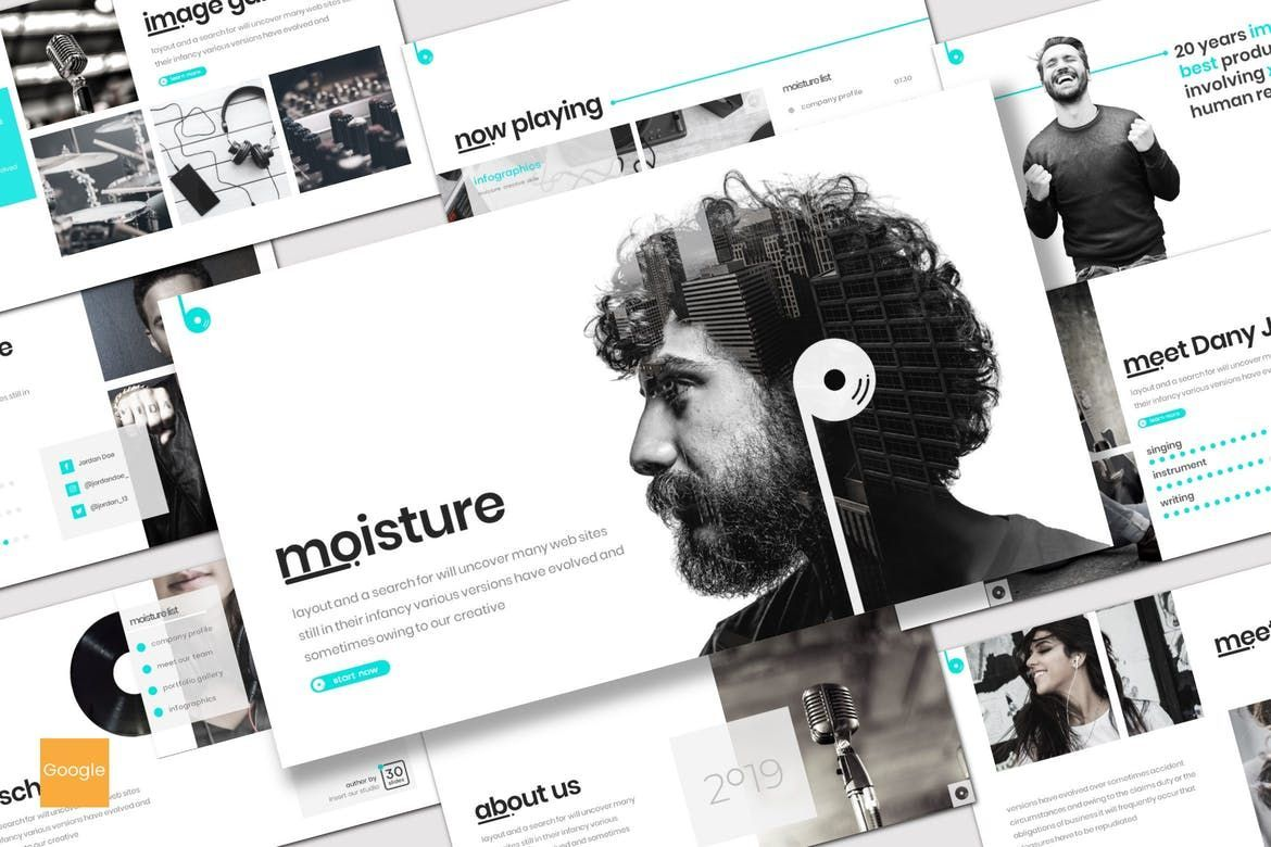 Moisture - Google Slides Template, 08276, Presentation Templates — PoweredTemplate.com