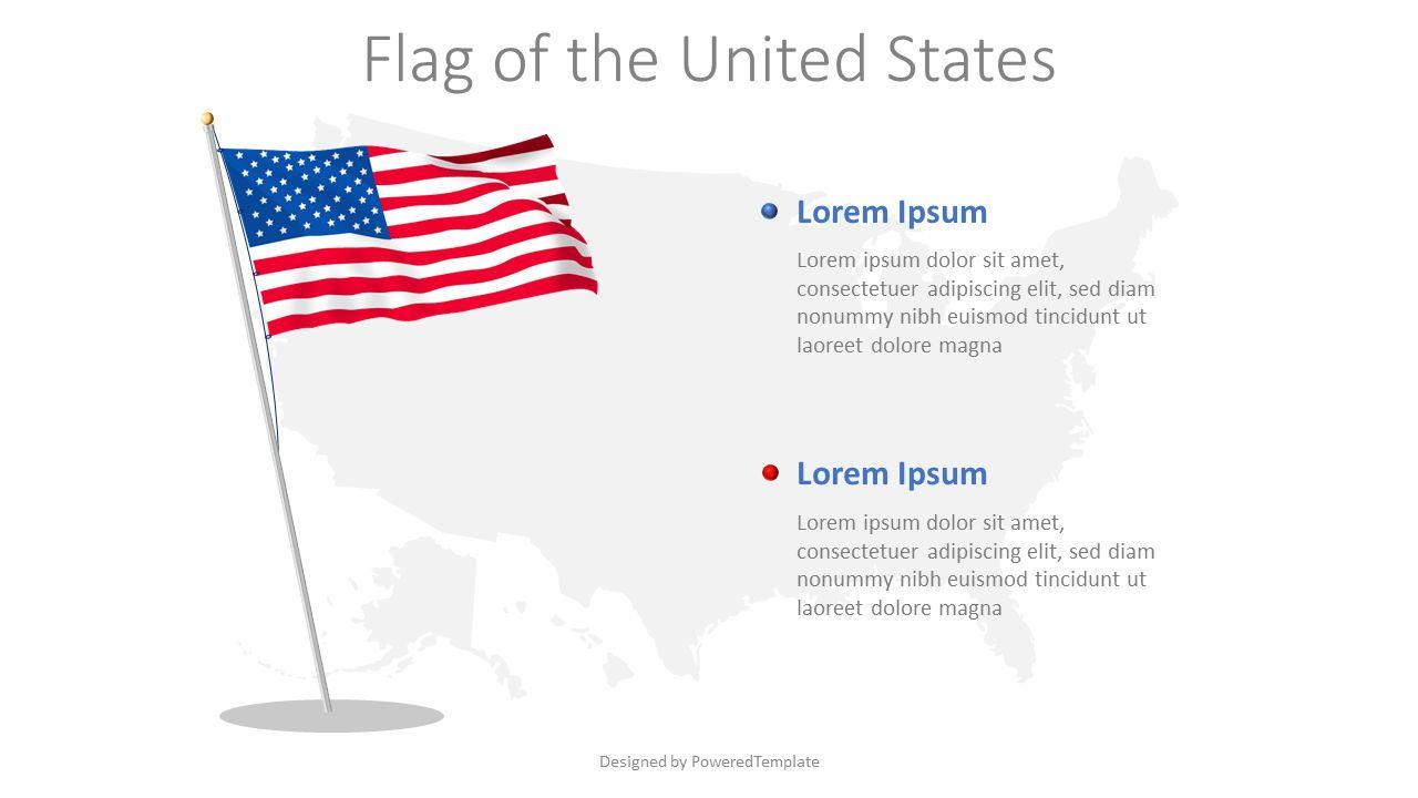 Flag of the United States, 08277, Infographics — PoweredTemplate.com