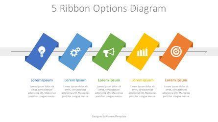 Process Diagrams: 5 Ribbon Options Process Diagram #08280
