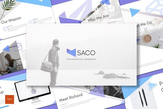 Presentation Templates: Saco - PowerPoint Template #08281