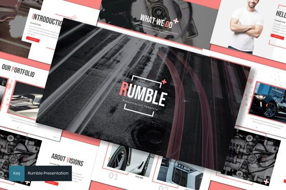 Presentation Templates: Rumble - Keynote Template #08282