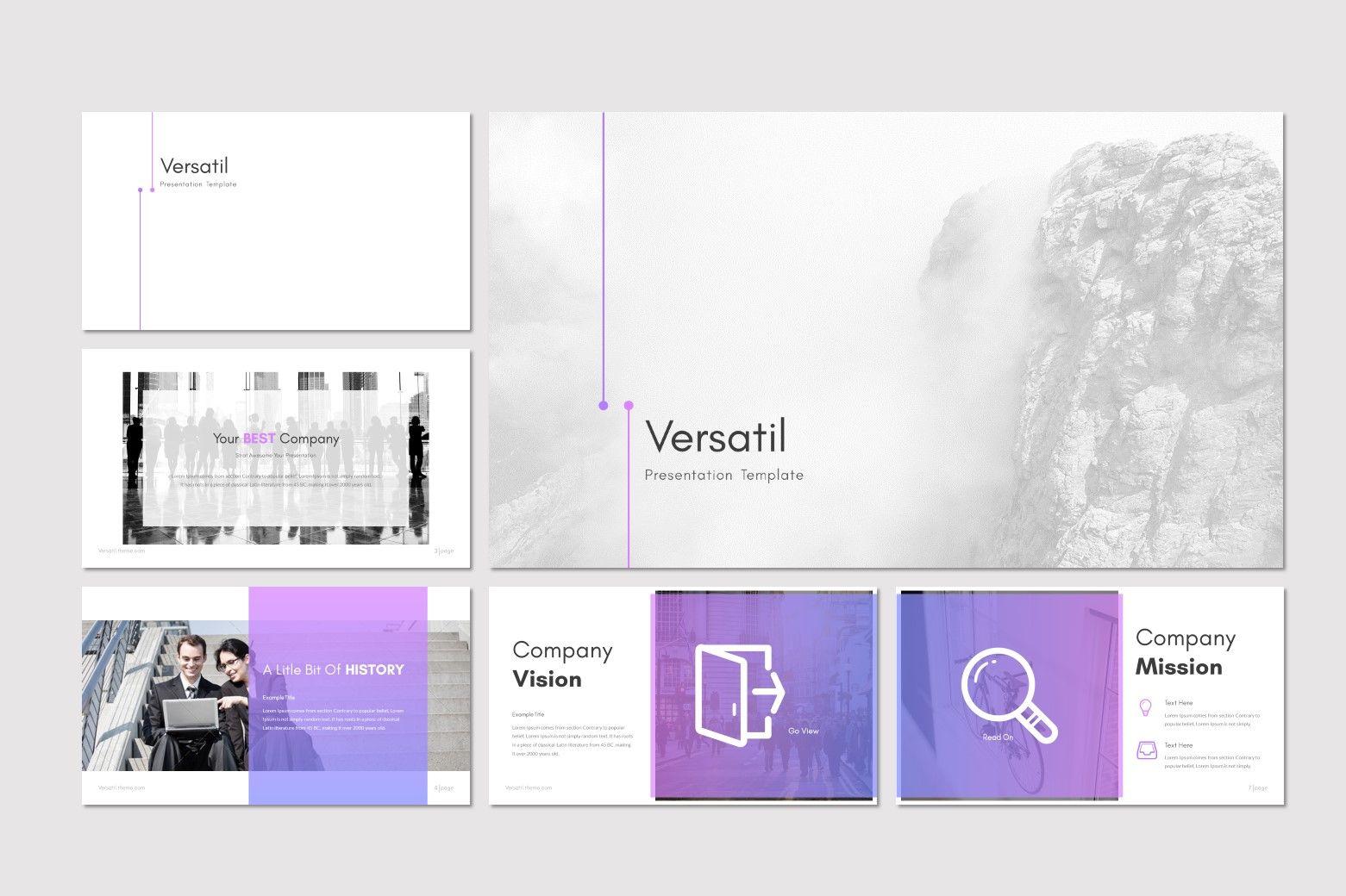 Versatil - PowerPoint Template, Slide 2, 08283, Presentation Templates — PoweredTemplate.com