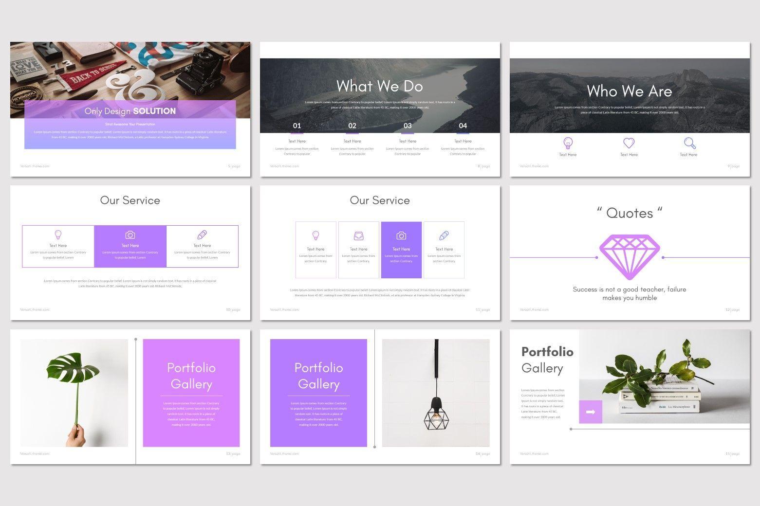 Versatil - PowerPoint Template, Slide 3, 08283, Presentation Templates — PoweredTemplate.com