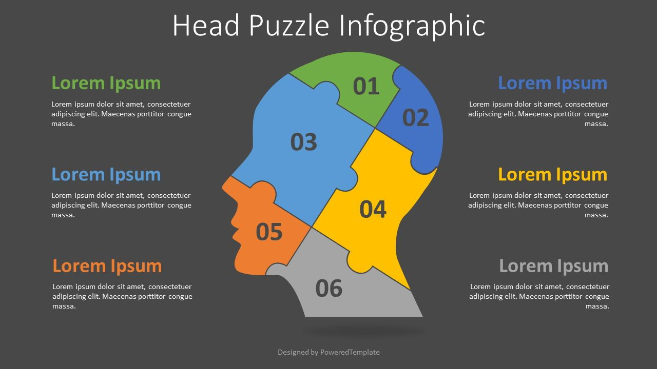 Head Puzzle Infographic, Slide 2, 08284, Education Charts and Diagrams — PoweredTemplate.com