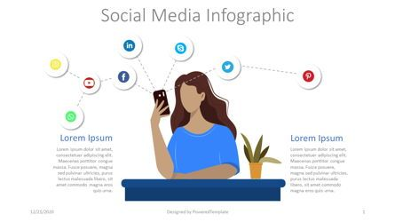 Graph Charts: Social Media Networks Infographic #08288