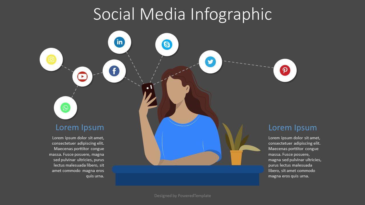 Social Media Networks Infographic, Slide 2, 08288, Graph Charts — PoweredTemplate.com