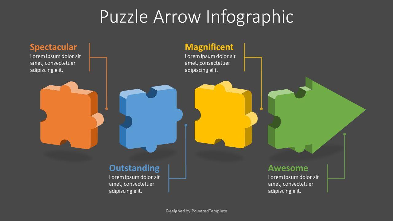Puzzle Arrow Infographic, 08290, Infographics — PoweredTemplate.com