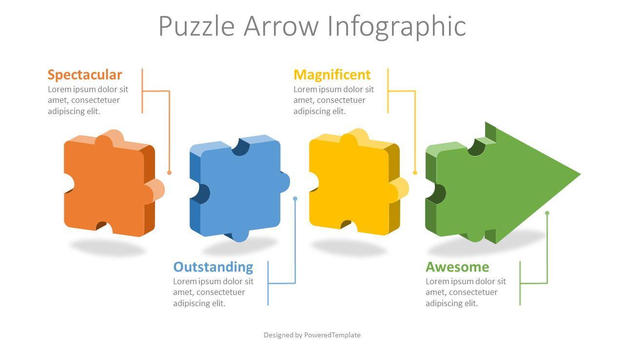 Puzzle Arrow Infographic, Slide 2, 08290, Infographics — PoweredTemplate.com