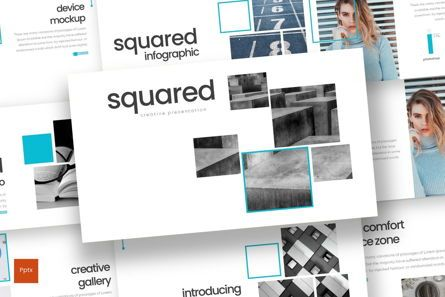 Presentation Templates: Squared - PowerPoint Template #08291