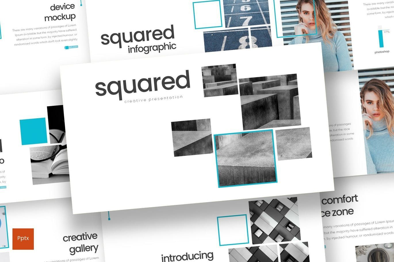 Squared - PowerPoint Template, 08291, Presentation Templates — PoweredTemplate.com