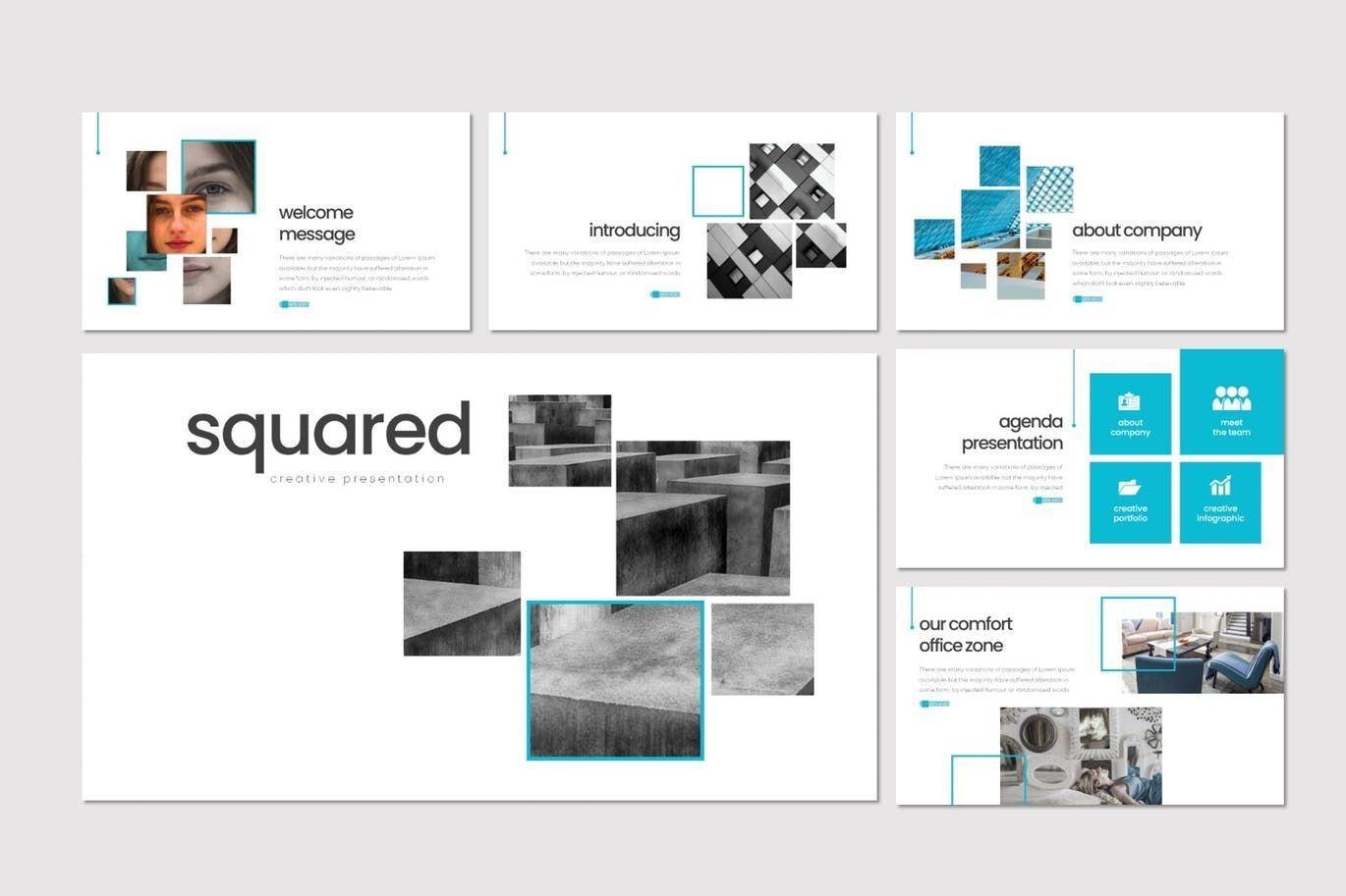 Squared - PowerPoint Template, Slide 2, 08291, Presentation Templates — PoweredTemplate.com
