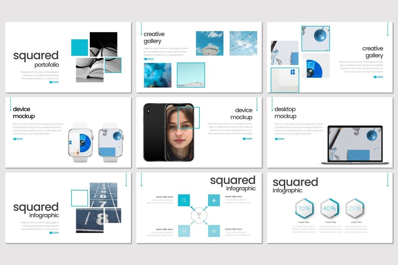 Squared - PowerPoint Template, Slide 4, 08291, Presentation Templates — PoweredTemplate.com