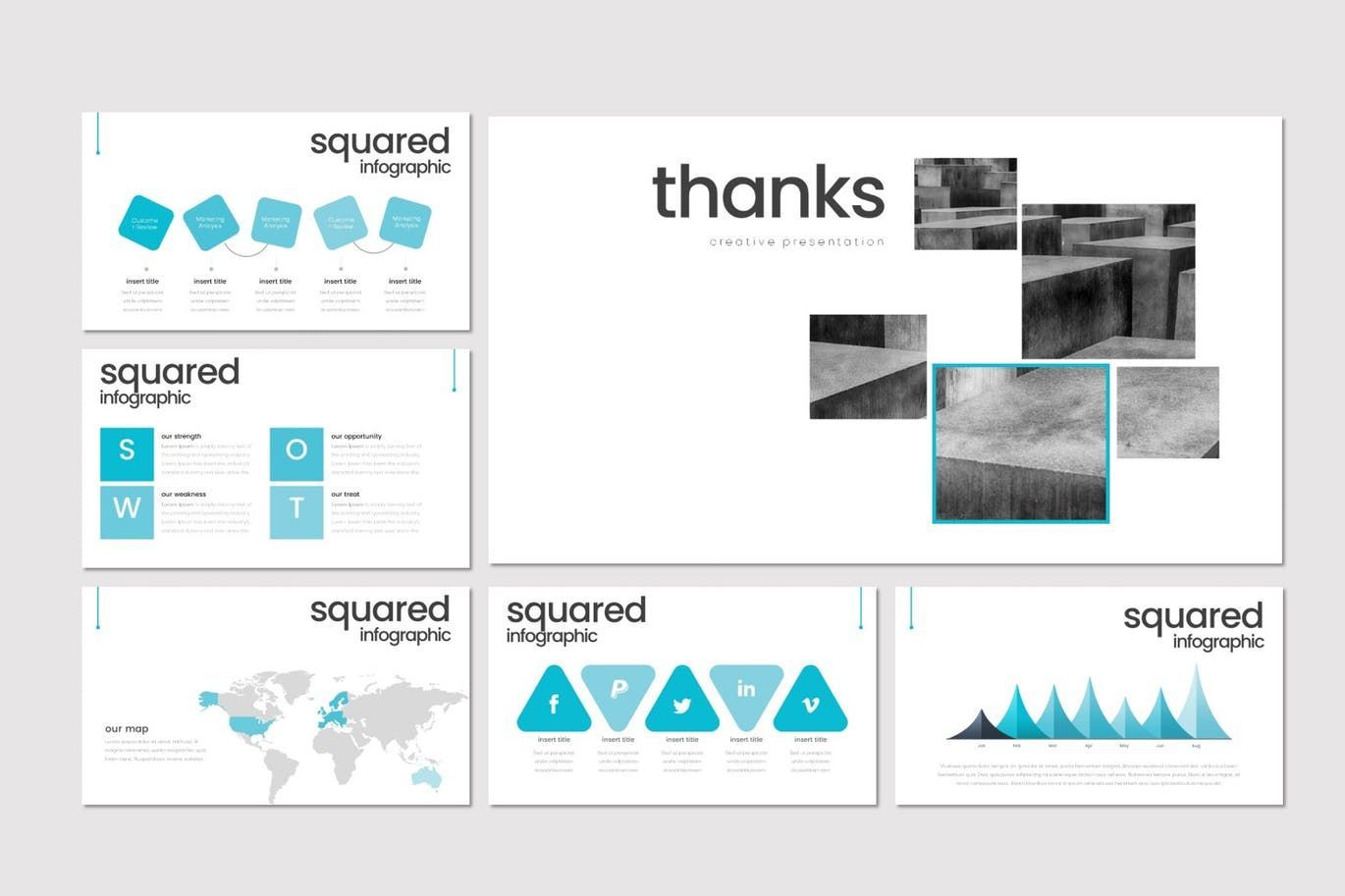Squared - PowerPoint Template, Slide 5, 08291, Presentation Templates — PoweredTemplate.com