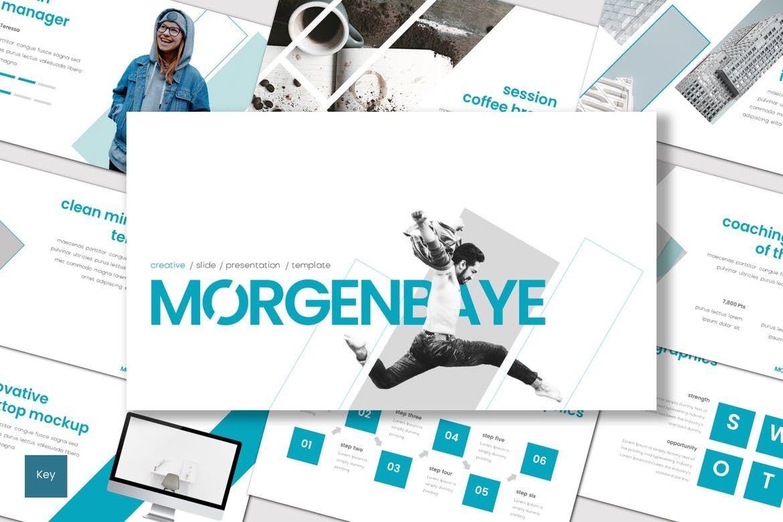 Morgenbaye - Keynote Template, 08292, Presentation Templates — PoweredTemplate.com
