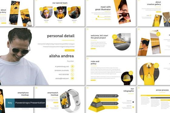 Presentation Templates: Powerstraps - Keynote Template #08293