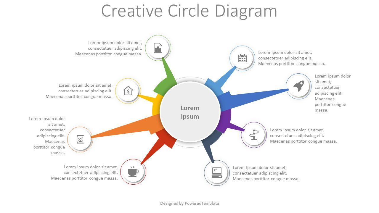 Creative Circle Diagram, 08294, Infographics — PoweredTemplate.com