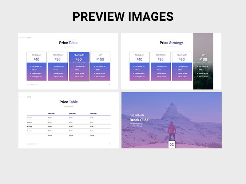 SOLO Startup Pitch Deck Template KEYNOTE, Slide 10, 08295, Presentation Templates — PoweredTemplate.com