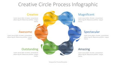 Process Diagrams: Creative Circle Process Diagram #08296